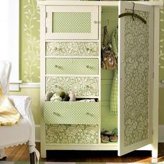 white upcycled wardrobe - Google Search#upcycled #wardrobes #craft #DIY #home #yourhomemagazine