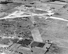 Toronto Pearson International Airport when it was Downsview before it became the city's commercial airport in the 1930's.