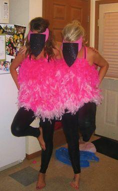 Flamingo costumes!