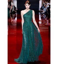 Vestido para invitadas de boda Elie Saab 2013 verde