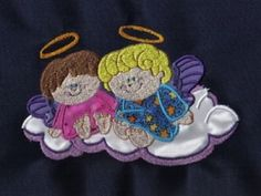 Applique Chubby Angels Machine Embroidery Designs http://www.designsbysick.com/details/appliquechubbyangels