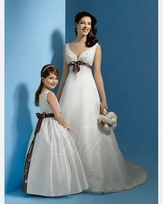Classic Ball Gown Floor-length Satin Flower Girl Dress. $83.15