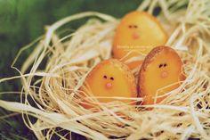 Menthe et Citron Vert: Petits biscuits poussins de Pâques Yellow Birthday, Baby Shower Themes, Carrots, Vegetables, Food, Key Lime, Mint, Easter Chick, Baby Chicks