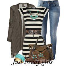 casual stripes top, Fashion stylish tunics for woman http://www.justtrendygirls.com/fashion-stylish-tunics-for-woman/