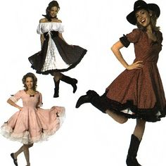 squaredance costumes  | Simplicity Costumes 7719 Square Dance Dresses Sewing Pattern - uncut ...