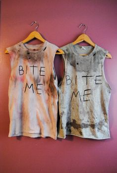 """Daryl Dixon """"Bite Me"""" Tank  Your favorite zombie hunter's shirt is here and ready for the apocalypse.   This is a shirt modeled after Norman Reedus' famous """"BITE ME"""" shirt.   Halloween Halloween Costume Daryl Dixon Zombies Zombie Hunter The Walking Dead"""