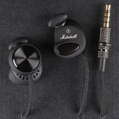 Marshall Minor Pitch Black Earphones #Accessories, #CoolGadgets, #TravelGadgets