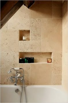 Love the niches in travertine