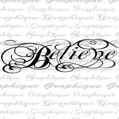 Digital Collage, Digital Media, Digital Image, Fancy Writing, Sale Store, Believe, Clip Art, Calligraphy, Check Stock