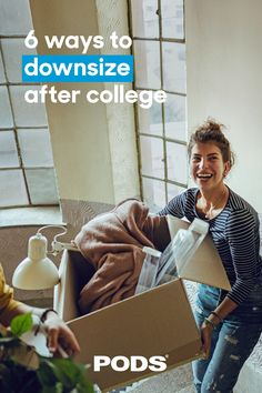 Whether you shared a large space with roommates, or lived in a tiny dorm, our guide to #Downsizing after college will help you prepare for what's next. #ContainingTheChaos After College, Graduation Post, Moving Tips, Roommates, Dorm, Success, Couple Photos, Space, Easy