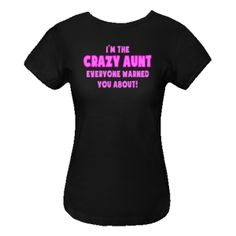 I'm the Crazy Aunt! (pink) Black Women's Fitted T-Shirt