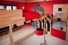 Cool Beds For Boys Bedrooms Boys Room Design, Office Space Design, Boys Room Decor, Boy Room, Kids Bedroom, Bedroom Ideas, Awesome Bedrooms, Cool Rooms, Teen Boy Bedding Sets