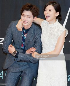 South Korean actors Lee Jong-Suk and Lee Bo-Young attend the SBS Drama 'I Hear Your Voice' Press Conferencce at SBS building on May 29, 2013 in Seoul, South Korea. The drama will open on June 05 in South Korea.