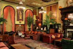 The Jane Hotel (New York, New York)A place to party, eat, and rest your head, The Jane has it all — . - Photo: Courtesy Of The Jane Hotel. Animal Print Decor, Chelsea Hotel, New York Hotels, New York Style, New York Travel, Best Hotels, Luxury Hotels, Design Inspiration, Design Ideas