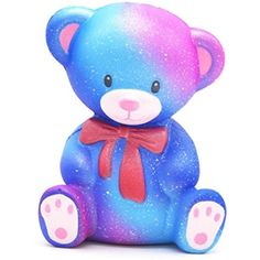 Muxika 10cm Galaxy Teddy Cream Scented Squishy Stress Reliever Slow Rising Kids Toy Gift * Check out the image by visiting the link. (This is an affiliate link and I receive a commission for the sales) #BabyToddlerToys