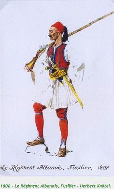 La Pintura y la Guerra. Sursumkorda in memoriam Albanian People, Les Balkans, Albanian Culture, Medieval Clothing, Napoleonic Wars, Ottoman Empire, Ancient Greece, Mythology, Pictures