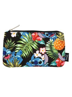 "<p>Be a pineapple princess everywhere you go with this canvas pencil case from Loungefly! Featuring Disney's <i>Lilo & Stitch</i>, this pencil case has an allover Hawaiian print with Stitch and pineapples silver metal zipper and a white a grey striped lining. </p> <ul> <li>100% polyester</li> <li>Approx. 8"" x4 1/2""</li> <li>Imported</li> </ul>"