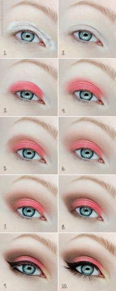dla niebieskookich ^_^ 1001 trików makijażowych: Makijaże oczu: OCZY NIEBIESKIE