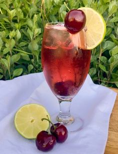 Kathryn Cellars Cherry wine, with its forthright flavor, is the basis for this refreshing drink that celebrates a burst of spring. Cherry Wine, Printable Recipe Cards, Wine Brands, Lemon Lime, Refreshing Drinks, Wine Making, Pomegranate, Wines, Alcoholic Drinks