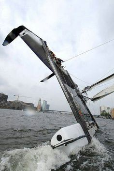 Efficient or not, flying hulls is fun.  It's a good thing that getting wet can be.
