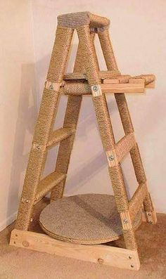Ladder to cat post