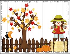 Struggling Readers and a Freebie! Fall Preschool Activities, Kindergarten Fun, Halloween Math, Fall Halloween, Counting Puzzles, Math Patterns, Tree Study, Classroom Freebies, Picture Puzzles