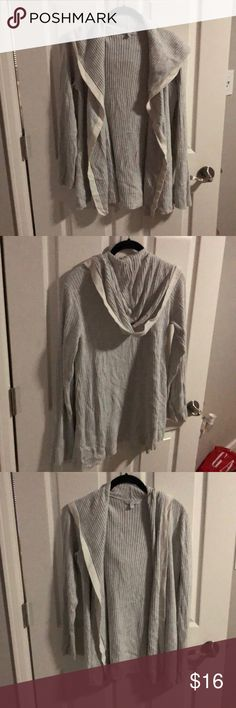 Gap body hooded sweater Lovely Grey hooded sweater by gap body. No laws non smoking home. No trades! GAP Sweaters