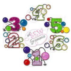 Appliqué Designs : Bouncy Balls Complete Set 1-6