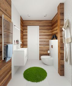 Гостевой домик из клееного бруса с гаражом - Интерьер в современном стиле с Vitra | PINWIN - конкурсы для архитекторов, дизайнеров, декораторов