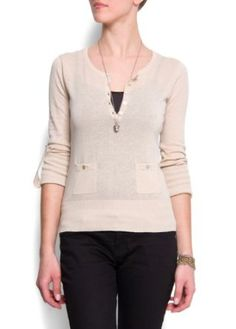 Mango Women's Pocket Cotton Jumper