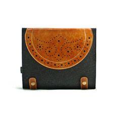 Leather iPad Sleeve, iPad Case, iPad Bag Custom Made for iPad1 2 3 and  the New iPad -E559. $28.00, via Etsy.