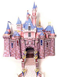 Sleeping Beauty Castle Paper Model (FREE Templates & Instructions!!)