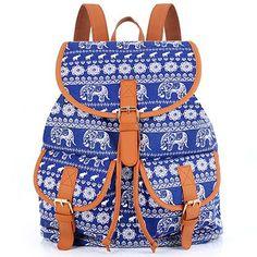 d2cf8640ba8 Sansarya New 2017 School Bag Bohemian Vintage Women Backpack Drawstring  Printing Canvas Bagpack Sac a Dos Femme Rucksack Female