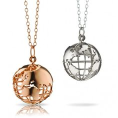"""""""My Earth"""" 18K Yellow Gold Charm Necklace"""