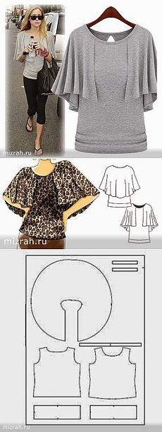 Blouse Pattern Free, T Shirt Sewing Pattern, Easy Sewing Patterns, Clothing Patterns, Dress Patterns, Fashion Sewing, Diy Fashion, Crochet Waffle Stitch, Diy Clothes And Shoes