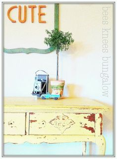 Adorable post about milk paint...  {Bees Knees Bungalow}: An Open Letter to Miss Mustard Seed's Milk Paint.