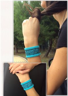 Stretch wrist cuff jewelry from Greece. Look cool! Be in fashion!