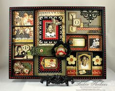 Graphic 45 altered photo shadowbox tray