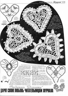 Crochet Heart Flower Patterns Dresses by RussianCrochetBooks, $6.99