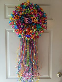 Fiesta ribbon wreath 2016