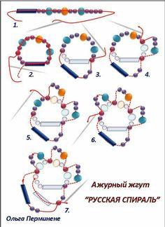 Spiral schema ~ Seed Bead Tutorials