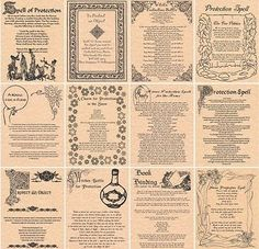 Book of Shadows Spell Pages * PROTECTION SPELLS * Wicca Witchcraft BOS