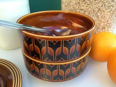 Your place to buy and sell all things handmade Hornsea Pottery, Soup Bowls, Breakfast Cereal, Side Salad, Pottery Bowls, Chips, Ceramics, Tableware, Vintage