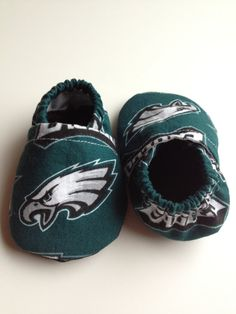 Philadelphia Eagles Cloth Baby Booties by saluna on Etsy, $15.00