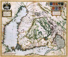 FINLAND. Atlas Van der Hagen.