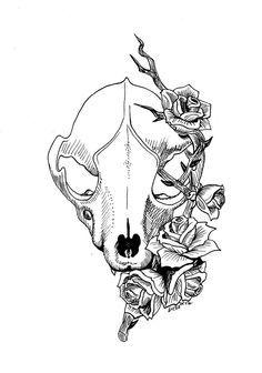 raccoon skull tattoo - Google Search