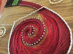 String Art Crafts Kit Red Wine Decor Crafts by StringoftheArt