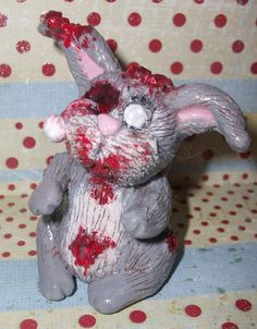 Baxter, the Zombunny-Handsculpted and handpainted