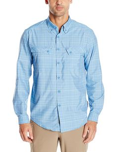 ExOfficio Men's Minimo Plaid Long Sleeve Shirt -- You can find more details by visiting the image link.