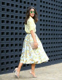 peaches skirt with pastel top